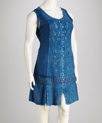 Indigo Plus-Size Dress