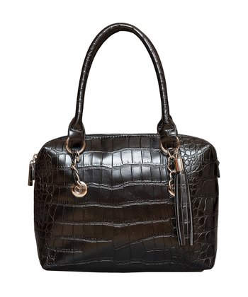 Black Crocodile Satchel