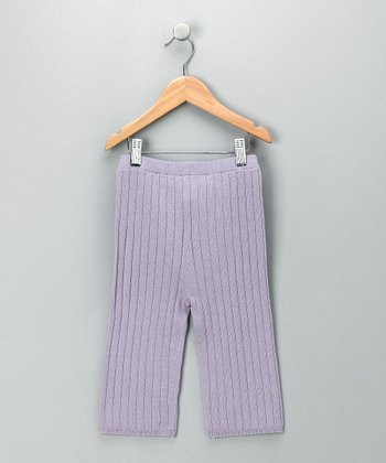 Lilac Ribbed Pants - Toddler