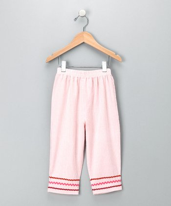 Rose Seersucker Pants - Toddler