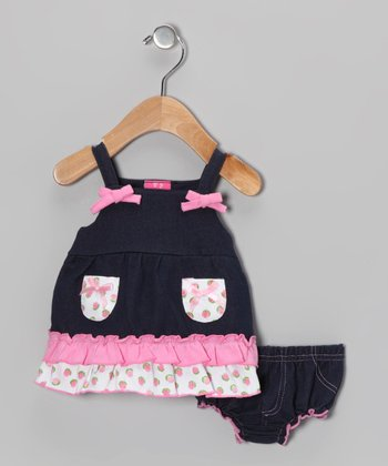 Pink Bow Dress & Diaper Cover - Infant