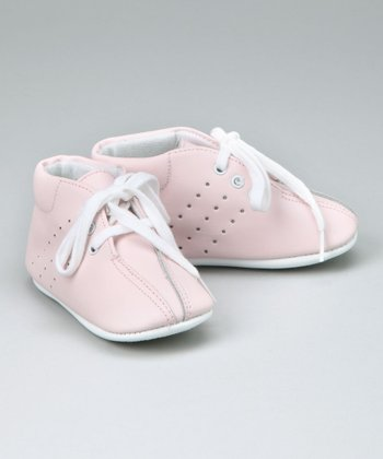 Pink Lace-Up Booties - Infant