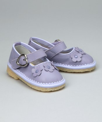 Lilac Flower Mary Jane - Toddler & Girls