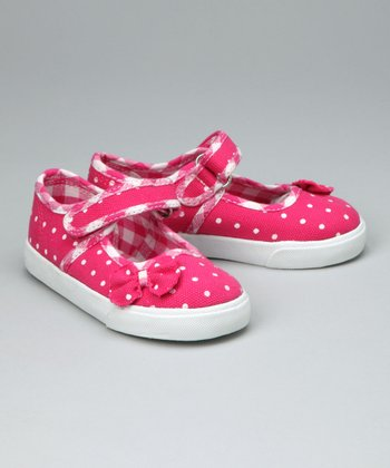 Fuchsia Polka Dot Mary Jane