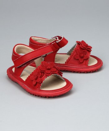 Red Flexi-Sole Sandal - Infant, Toddler & Girls
