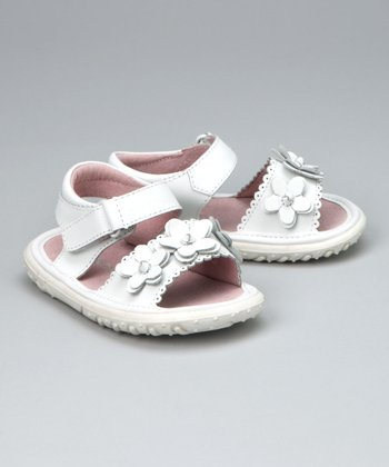 White Flexi-Sole Sandal - Infant, Toddler & Girls