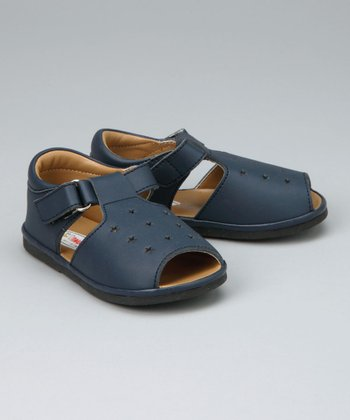 Navy Star T-Strap Sandal - Infant & Toddler