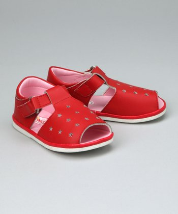 Red Star T-Strap Sandal