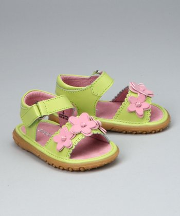 Lime & Pink Flexi-Sole Sandal - Infant, Toddler & Girls