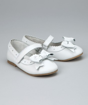 White Bow Mary Jane - Toddler & Girls