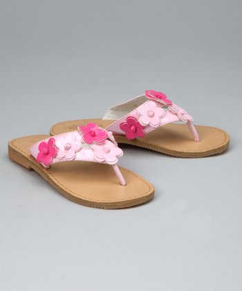 Pink Flower Flip-Flop - Toddler & Girls