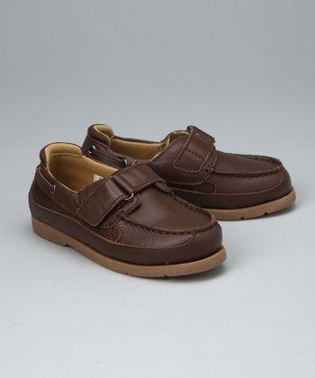 Brown Strap Boat Shoe