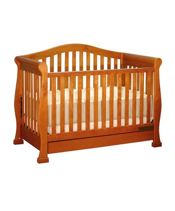 Pecan Spring Three-in-One Convertible Crib