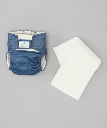 Dark Denim Cloth Diaper