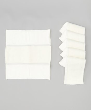 Reusable Tri-Fold Diaper Insert - Set of Six