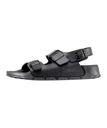 Grain Black Pebbly Aruba Sandal - Women & Men
