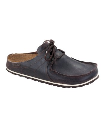 Rustic Dark Brown Leather Super Skipper Mule - Women & Men