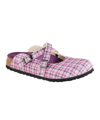 Lilac Plaid Dorian Mule - Women