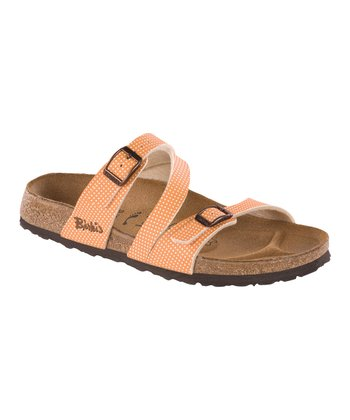 Orange Dots Salina Slide - Women