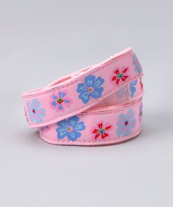Pink Flowers Belt - Girls