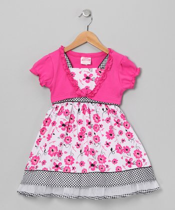 Pink Flower Dress & Shrug - Infant