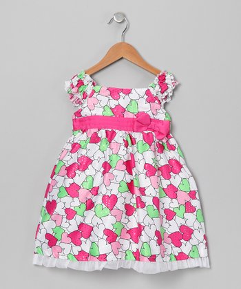 Pink & Lime Heart Dress - Infant