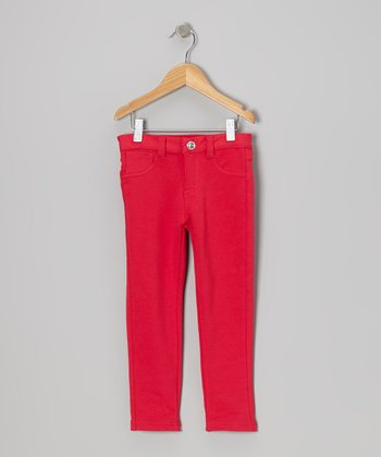 Red Jeggings - Toddler