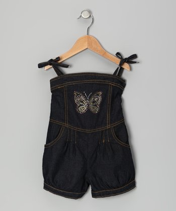 Denim Butterfly Romper - Infant, Toddler & Girls