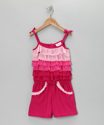 Fuchsia Tiered Romper - Infant, Toddler & Girls
