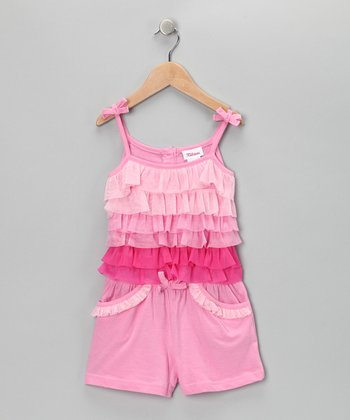 Pink Tiered Romper - Infant, Toddler & Girls