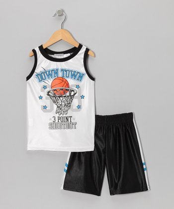 White 'Down Town' Tank & Shorts - Toddler