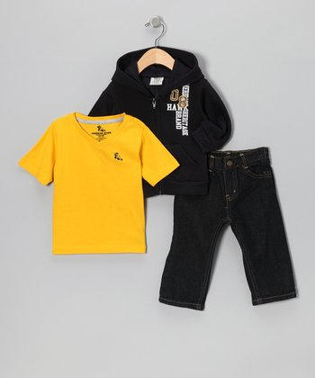Black Hoodie Set - Infant