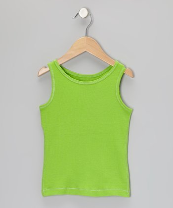 Lime Tank - Toddler & Girls