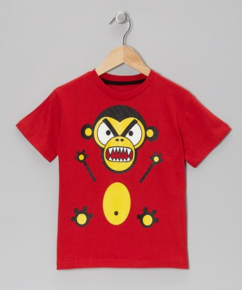 Red Monkey Tee - Boys