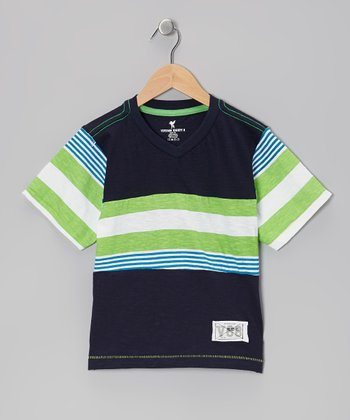 Green Stripe Tee - Boys