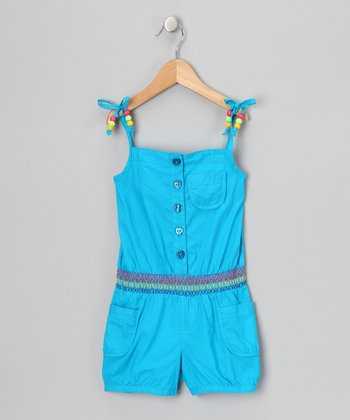 Blue Beaded Romper - Infant & Girls