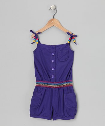 Grape Beaded Romper - Infant & Girls