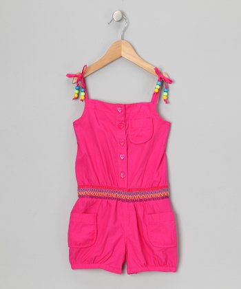 Pink Beaded Romper - Infant & Girls