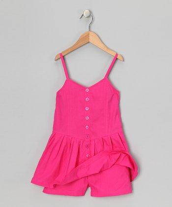 Pink Punk Button-Up Romper - Infant, Toddler & Girls