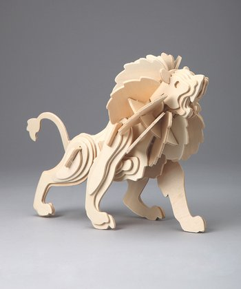 Kid Creations - Lion Woodcraft Model