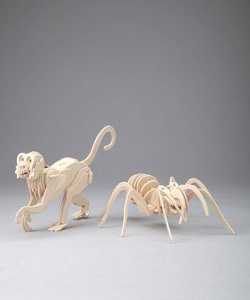 Spider & Monkey Woodcraft Models