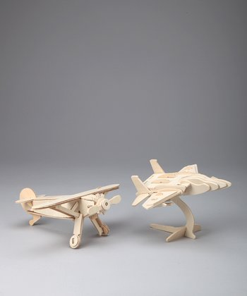 Fighter Jet & Monoplane Woodcraft Models