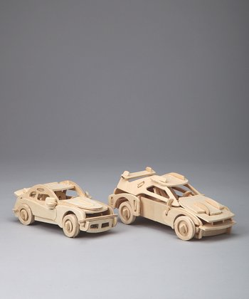 Ferrari & Porsche Woodcraft Model