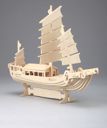 Sailboat Woodcraft Model