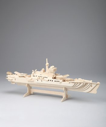 Cruise Ship Woodcraft Model