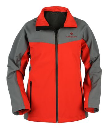 Red Performance Zip-Up Jacket