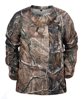 Brown Realtree Long-Sleeve Tee - Kids