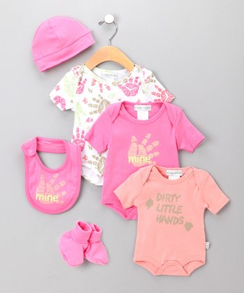 Pink Handprint Layette Set - Infant