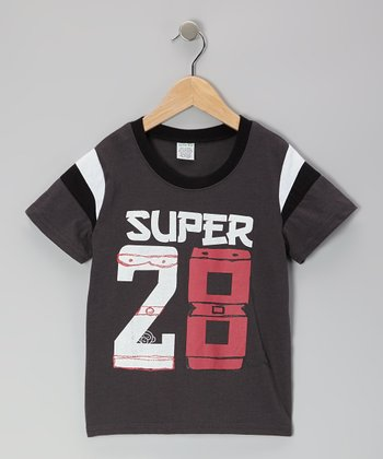 Gray 'Super 28' Tee - Toddler & Boys