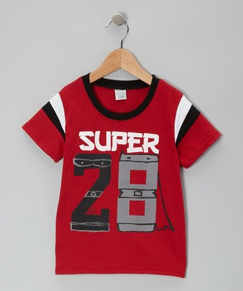 Red 'Super 28' Tee - Toddler & Boys
